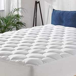 """MANYHY Queen Mattress Pad Cover 500 TC Pillow Top Thick Quilted Fitted Cooling Mattress Topper Fit to 8-21"""" Deep Pocket, Overfilled Snow Down Alternative (Queen, 60''x 80'')"""