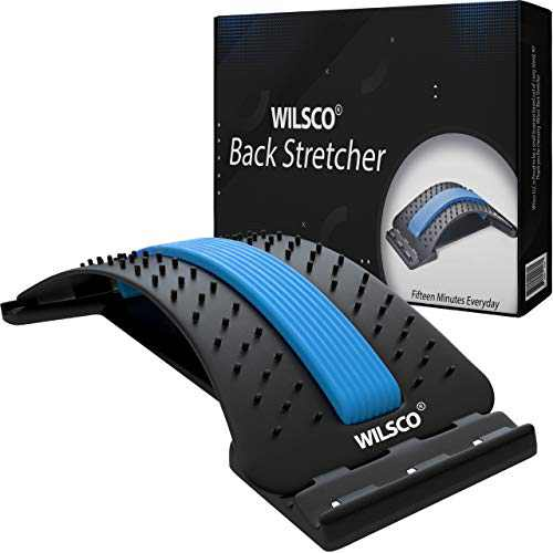 Wilsco Spine Deck Back Stretcher for Lower Back with 3 Stretching Levels, 88 Acupressure Massage Nodes and Memory Foam Pad