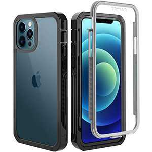 BESINPO for iPhone 12 Pro Max Case 6.7 inch, Built-in Screen Protector Full-Body Protective Shockproof Clear Back Cover, Wireless Charging Anti-Scratch Slim Case for iPhone 12 Pro Max