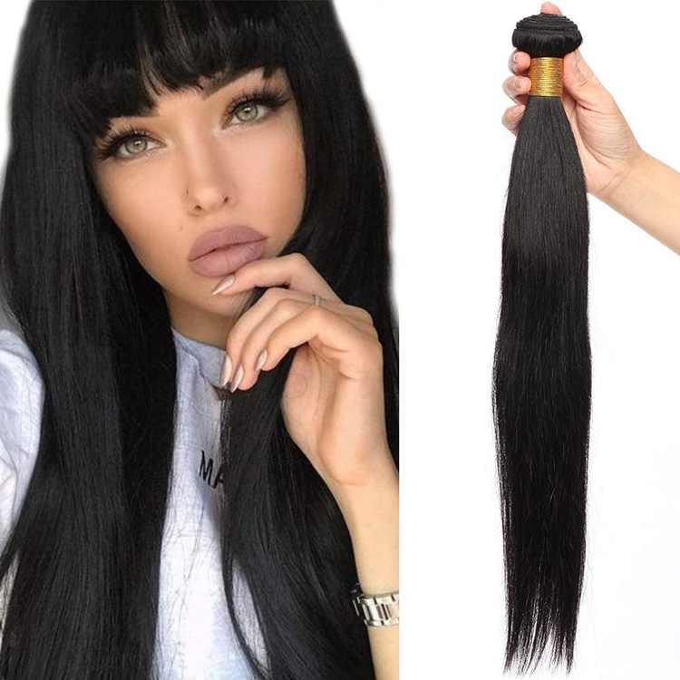 "18"" Brazilian Human Hair Weave Bundles Straight #1B Natural Black (1 Bundle,100g)"