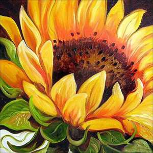 DIY 5D Diamond Painting Kits for Adults Sunflower Under Leisure Full Drill DIY Diamond Art Cross Stitch Paint by Numbers for Home Wall Decor(Sunflower,30x30cm/12x12in)