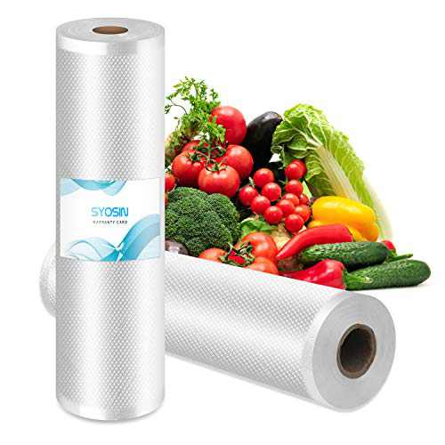 Vacuum Sealer Bags,2 Rolls 11''X 16.4' Size for Food Saver,Great for vac seal storage, Meal Prep or Sous Vide.BPA Free