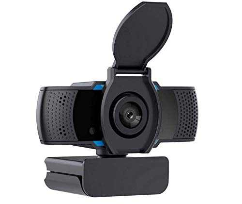 1080P Webcam with Microphone, Plug and Play USB Desktop Laptop Computer Web Camera with Privacy Cover, Suitable for Windows Mac OS, Quality for Video Calling Recording Conferencing
