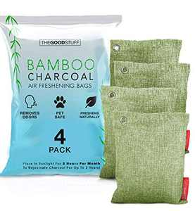 Activated Charcoal Bags (4 XL Room Fresheners) - Natural Room Fresheners for Home Long Lasting, Home Air Fresheners