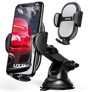 Car Phone Holders, UXD Car Phone Mount, Patented Phone Holders for Car Dashboard/Windshield, Compatible with iPhone 12 Pro Max/Mini 11 Pro Max Xs XR X, Galaxy S20+ S20 Note 10 9, Light Gray
