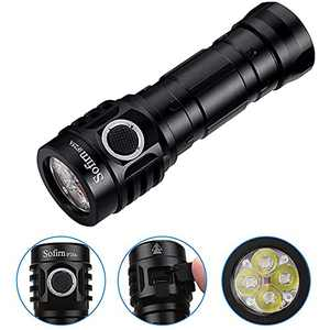 Sofirn IF25A Flashlight High Lumens MAX 3800 LM, 4x SST20 6500K LED, Complex Anduril UI, with 21700 Battery(Inserted) and USBA to USBC Cable