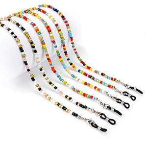 3 Pcs Face Mask Lanyard, Bead Eyeglasses Chain, Safety Mask Holder Strap Hanger, Eyeglass Retainer Strap Holder for Women
