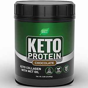 Keto Collagen Protein Powder with MCT Oil - Chocolate Flavor Keto Powder Protein Shake - Lactose Free, Gluten Free, Soy Free, Low Carb Keto Protein Powder - Satisfying Keto Meal Replacement