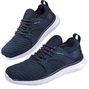 Anbenser Mens Walking Shoes Lightweight Knit Athletic Shoe Non-Slip Sneakers Size 7-15 Blue 7