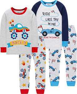 Boys Car Pajamas Christmas Baby School Clothes Children Cotton Girls Pants Set Sleepwear 3t
