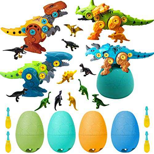 Kids Toys Stem Dinosaur Toy, Take Apart Dinosaur Toys for Kids 3-7, Construction Building Toys Dino Easter Eggs with Storage Box, Learning Birthday Gifts for Boys Girls Age 3 4 5 6 7 8 Year Old
