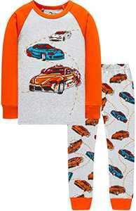 Boys Car Pajamas Christmas Children Clothes Toddler Kids PJs Gift Set Sleepwear Size 8