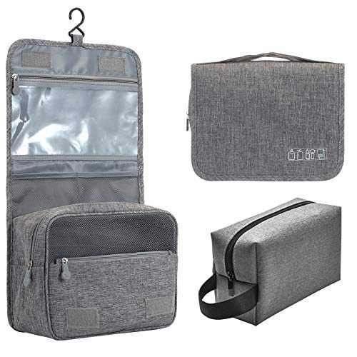 Hanging Travel Toiletry Bag for Men and Women,Waterproof Large Cosmetic Make up Organizer for Travel Accessories Kit,Bathroom Shower,Makeup Bag for Travel Size Toiletries