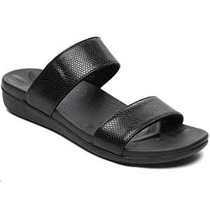 UTENAG Womens Arch Support Slides Double Buckle Orthotic Comfort Footbed Sandals
