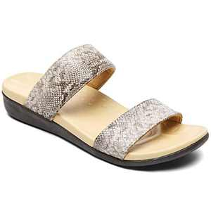 UTENAG Comfort Arch Support Slides for Women Two Band Orthotic Flat Sandals Summer Beach Flip Flops