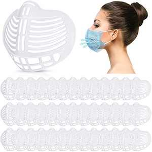 40 Pieces 3D Face Covering Bracket Washable Face Nose Mouth Bracket Face Covering Inner Support Frame Face Covering Holders Reusable Face Lipstick Protector, White