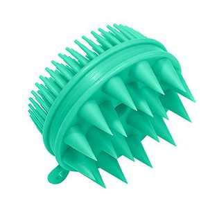 Silicone Scalp Massager Shampoo Brush, Fuovt Scalp Exfoliator Brush for Curly Hair Women & Man scalp massager hair growth brush(Green)