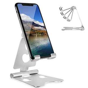 Cell Phone Stand Adjustable Phone Holder for Desk Aiwosana Phone Dock Compatible with Phone 12 Mini 11 Pro Xs Max Xr X 8 7 6 6s Plus, All Android Smartphones