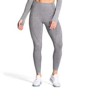Aoxjox Women's High Waist Workout Gym Vital Seamless Leggings Yoga Pants (Smokey Grey Marl, X-Small)