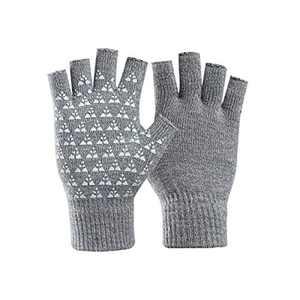 Unisex Fingerless Winter Gloves Women's Men's Half Finger Work Knit Gloves Compression Arthritis Stretchy Comfortable Warm