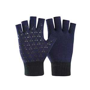 Unisex Fingerless Winter Gloves Women's Men's Half Finger Work Knit Gloves Compression Arthritis Stretchy Comfortable Warm