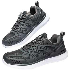 Anbenser Mens Walking Shoes Lightweight Mesh Athletic Shoe Fashion Casual Sneakers Grey 9.5DM