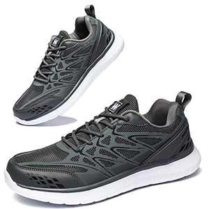 Anbenser Mens Walking Shoes Lightweight Mesh Athletic Shoe Fashion Casual Sneakers Grey 8DM
