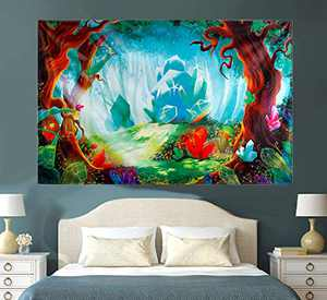 Nature Tapestry Wall Hanging Psychedelic Diamond Forest Wall Blanket Home Decorations for Party Livingroom Bedroom Apartment Home Dorm Decor