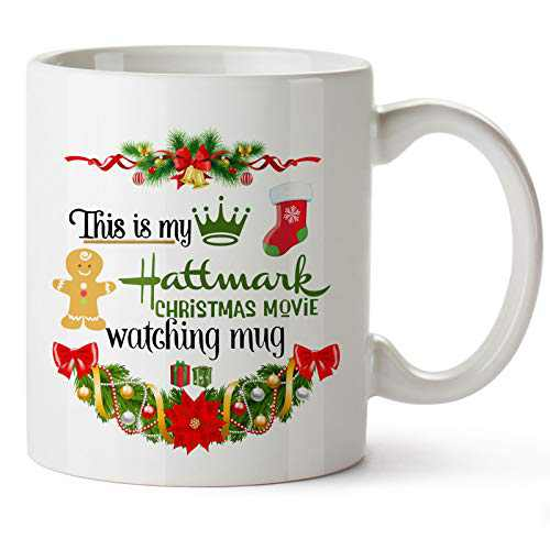 Pcdvn Christmas Movie Watching Mug, Funny Coffee Mugs Birthday Holiday Gifts For Women,Movie Lovers,Friends