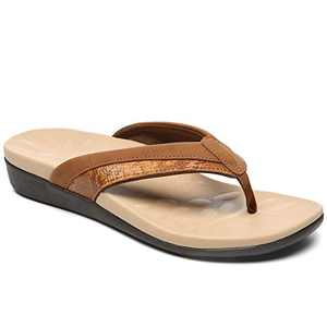 UTENAG Women Orthotic Flip Flops Comfort Thong Sandals with Arch Support Beach Flats Shoes