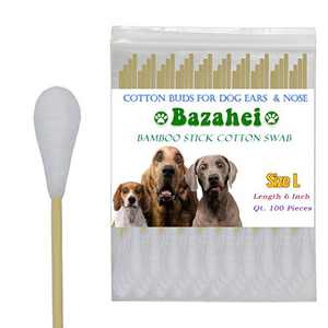 Dog Cotton Buds,Large Size 100PC Specially Designed with Dog Ear Cleaning and Ear Infection for Dogs,Cat Ear Cleaner and Dog Ear Cleaner Solution for zymox