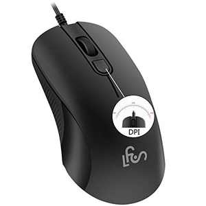 Silent Wired Computer Mouse with DPI Change Button for Laptop PC Gamming Office Computer Mice