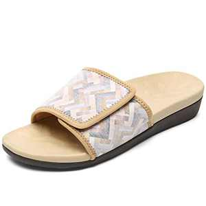 UTENAG Womens Arch Support Slide Sandals Adjustable wrap Orthopetic Slides