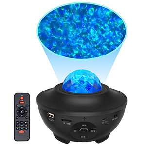 HSicily Star Light Laser Projector Star Galaxy Projector Light Bluetooth Speaker with Remote Control Timer Sky Night Light LED Nebula Cloud for Christmas Baby Bedroom Kids Party Disco