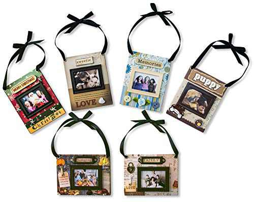 SAILINGSTORY Picture Ornament for Christmas Tree, Photo Ornament for Christmas Thanksgiving Family Puppy Lover Memory Set of 6 Packing