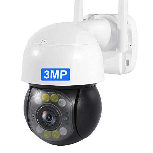 INQMEGA Outdoor PTZ WiFi Security Camera, 3MP Pan Tilt Zoom 4.1X Surveillance CCTV IP Weatherproof Camera with Two Way Audio Night Vision Motion Detection