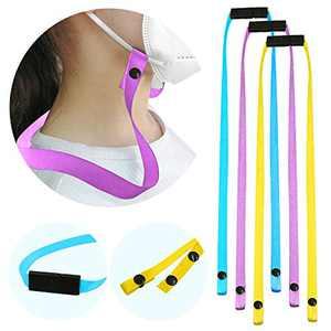 3 Packs Breakaway Lanyard for Face Mask, Mas-k Anti-Lost Lanyard String for Kids Youth Adults Mas-k Holder Strap Hanger with Snap Button for for Child/Adults Size Facemasks