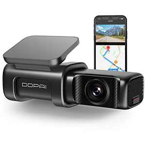 DDPAI Mini5 4K Dash Cam 2160P, 4K UHD Dash Cam Recorder 3840x2160P, Built in 5G WiFi GPS Dashboard Camera Recorder for Cars 64G eMMC Storage |5G WiFi & App |Night Vision, Parking Mode,Super Capacitor