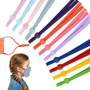 120 Pieces Sewing Elastic Cord Bands Colorful Stretchy Ear Band Straps Adjustable String Bands with Adjustable Buckles Anti-Slip Cord Locks for DIY Sewing Crafts (Vivid Colors)