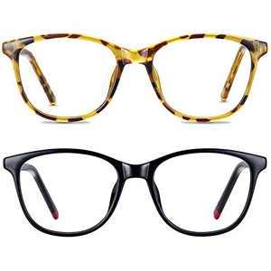 2Pack Blue Light Blocking Glasses, Computer Gaming/TV/Phone Eyeglasses for Women Men, Anti Eyestrain Headache & UV Glare (Black+Tortoiseshell)