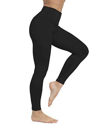 ZIIIIIZ High Waist Yoga Pants for Women Tummy Control Workout Athletic Compression Leggings with Pockets for Women(N-Black,S)