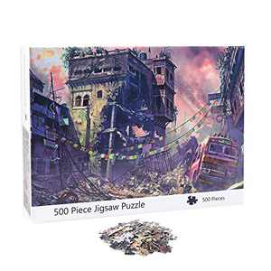 NEILDEN Puzzle for Adults 500 Piece,Puzzle Art 500 Pieces,Jigsaw Puzzles Landscapes, Pieces Fit Together Perfectly,Puzzle for Funny Family Games,Home Decoration(City,14.5x20 inch)