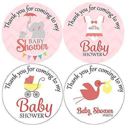 500pcs 1.5in Thank You for Coming to My Baby Shower Stickers for Girl Baby Shower Party Favors or Thank You Card Envelopes Seal