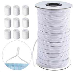 Elastic for Sewing Masks,Stretchy Elastic String for Masks Sewing Craft DIY, Premium Quality, Soft Material, Round Elastic Cord for mask (5MM185Yards)