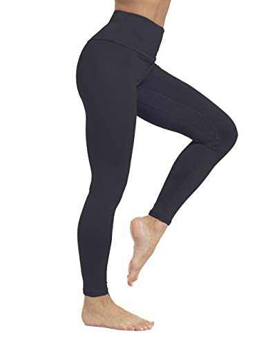 ZIIIIIZ High Waist Yoga Pants for Women Tummy Control Workout Athletic Compression Leggings with Pockets for Women(N-Black-S)