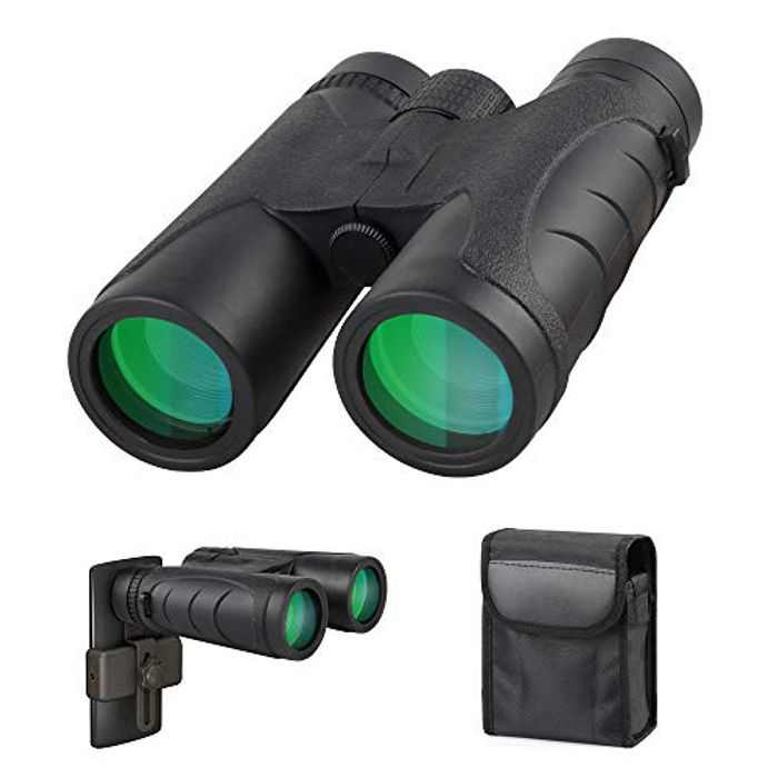 High Power 10x42 Binoculars with Handbag, Fogproof & Waterproof Binoculars with Multi Coated, Compact Folding Binoculars for Bird Watching, Hunting, Hiking, Concert and Sports Games
