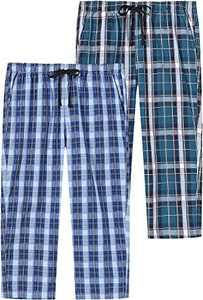 AIRIKE Women's Pajama Pants Cotton Capri Lounge Pants Elastic Waisted Woven Sleep Pants with Pockets Sleepwear PJ Bottom