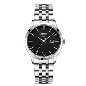 Harper and Brooks Black Women Watches with Date 34mm Bracelet Strap