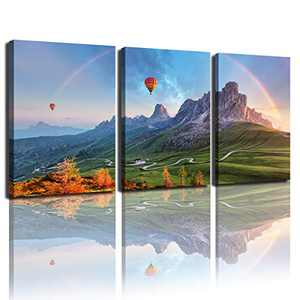 Living Room Wall Art Decoration Mural Bedroom Prints Landscape Printing Poster Bathroom Wall Art Stretched and Composed into Hanging Modern Home decorationpanel Picture (16x24 inchesx3)