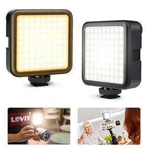 Kekilo VL-81 Beads On Camera Light, LED Video Lighting 3000mAh Portable Pocket, Bi-Color CRI95+ 3200K-5600K Vlog Mini Lamp w Softbox, USB-C Rechargeable Photography Shooting Fill Light for Vlogging